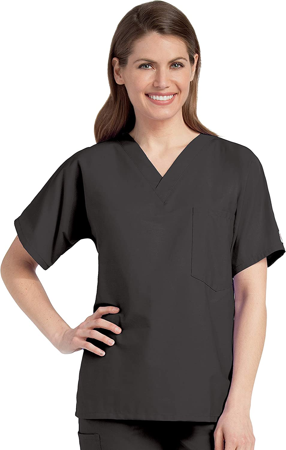 Scrub Zone Outlet ☆ Ranking TOP7 Free Shipping 1-Pocket Classic Relaxed V-Neck Fit Durable Medical