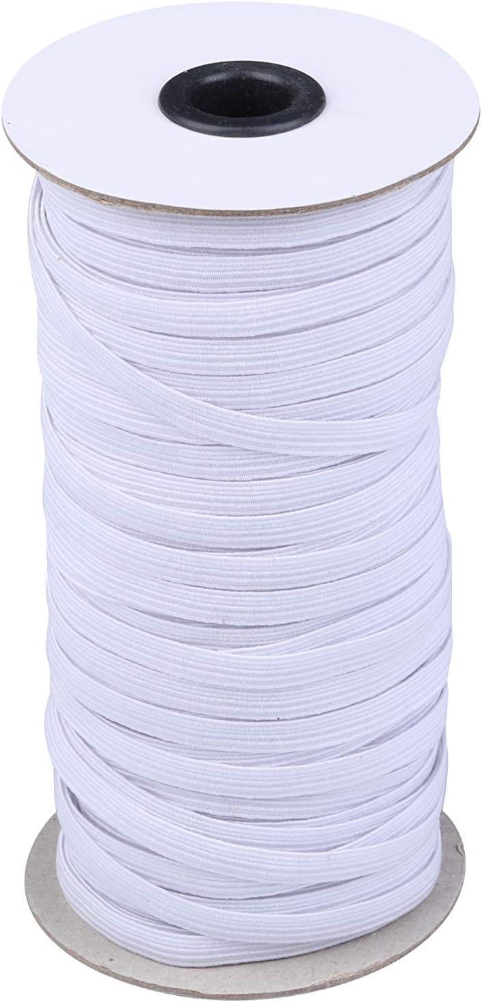 100 Yards Round Elastic Cord//Rubber Fabric Crafting Stretch Elastic String//Elastic Band//Elastic Spool Black, Dia2.5mm