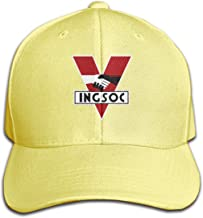 OPTION&DUET Nineteen Eighty-Four 1984 INGSOC Political Party Solid Color Cap Adjustable Size Perfect for Running Workouts and Outdoor Activities Baseball Dad Cap Yellow