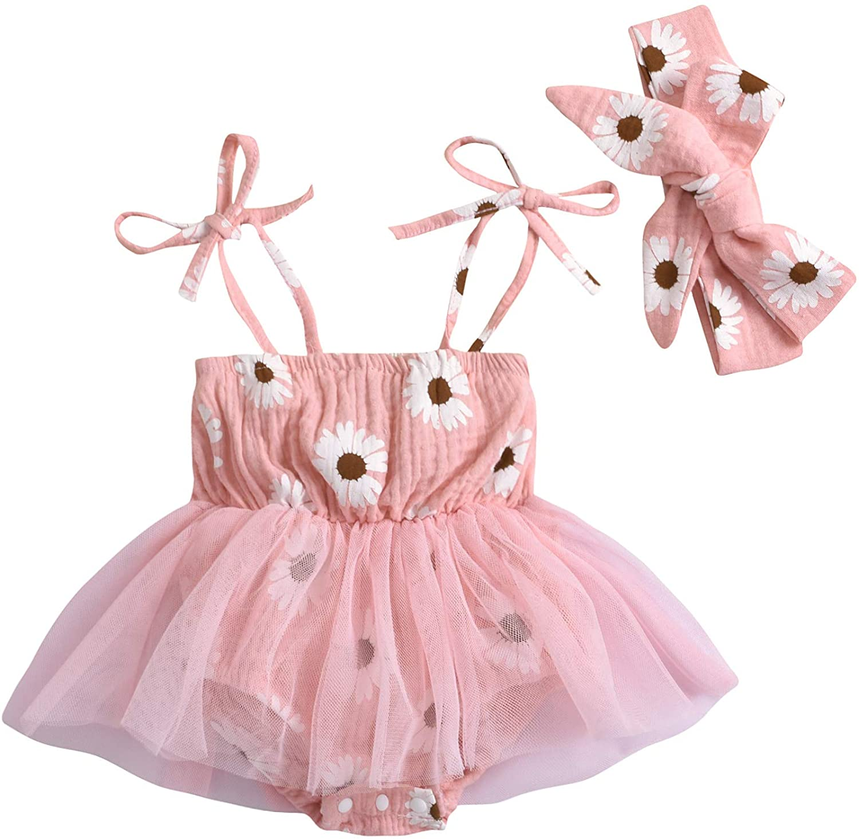 Baby Girl Romper Floral overseas Halter Newborn Sleeveless Onesies New Free Shipping Dress