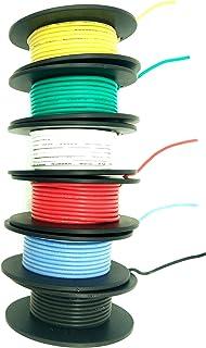 cable trenzado de 300 V PVC 1007 alambre de cobre esta/ñado rojo calibre 26 100 pies por carrete para bricolaje Cable el/éctrico BNTECHGO 26 AWG 1007