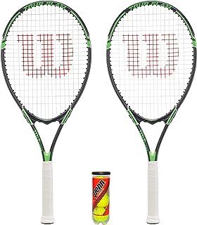 2 x Wilson Tour Tennis Rackets including 3 Tennis Balls