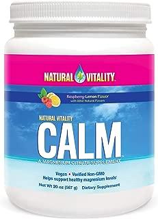 Natural Vitality Calm Anti-Stress Supplement Powder, Raspberry Lemon, 20 Ounce