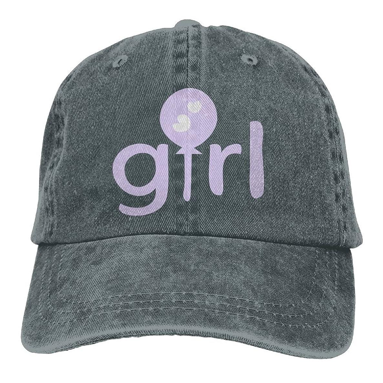 Arsmt Girl Purple Balloon Denim Hat Adjustable Unisex Funny Baseball Cap