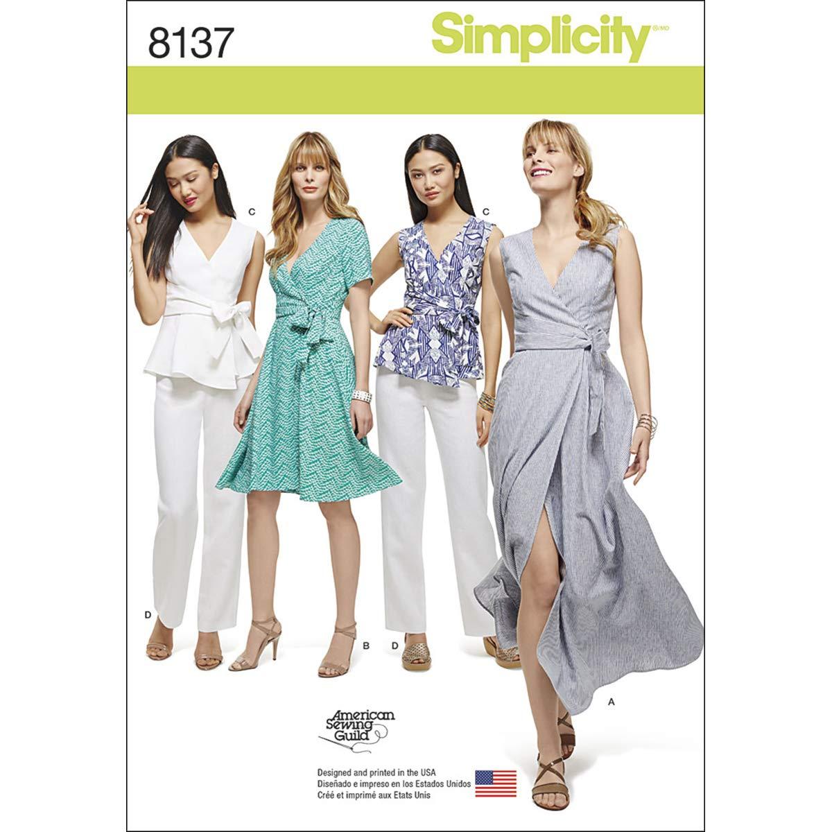 8-10-12-14 BUTTERICK PATTERNS B4790 Misses Wrap Dress Size BB
