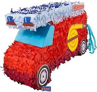 Folat 60933 Pinata brandkår. Bra piñata för att fylla med konfetti, godis och små presenter
