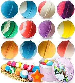 Bath Bombs, STNTUS Bath Bombs for Women Kids, 12 Bathbombs Gift Set, Spa Bubble Bath Bomb Gift for Mom, Her, Girlfriend, B...