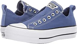 466f2a85c676 Washed Indigo White Black. 47. Converse. Chuck Taylor All Star Lift Slip -  Ox