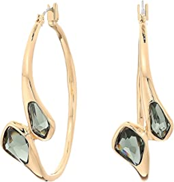 Robert Lee Morris - Green and Gold Hoop Earrings