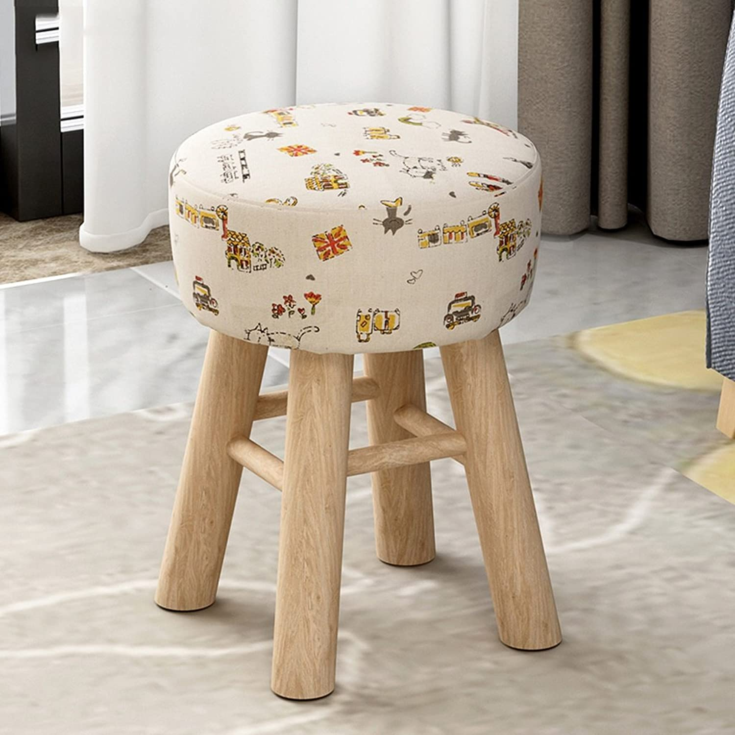 ALUS- Home Stool Fashion Ideas Small Bench Sofa Stool Round Stool (color   C)