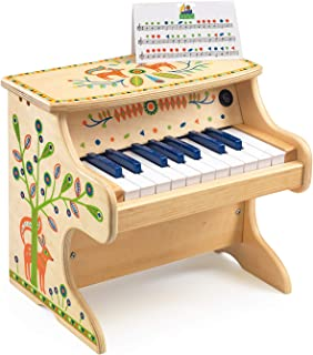 DJECO Animambo 18 Key Electronic Piano Musical Instrument, T