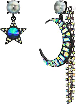 Moon & Star Non-Matching Earrings