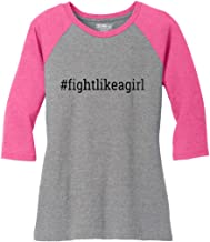 Fight Like a Girl Hashtag Ladies' Tri-Blend Baseball-Style Raglan T-Shirt (Assorted Colors)