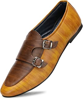 Emosis Men's Formal Shoes - Synthetic Leather Moccasin Slip-On - for Office Daily Use - Available in Tan Brown Black Color - 427M