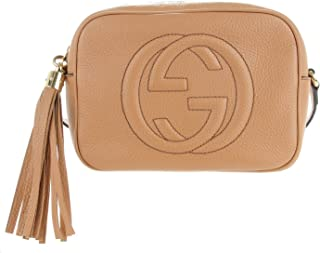 32c9ad6e3a8c1f GUCCI Soho Disco Camelia Beige Rose Pink Light brown Leather Crossbody Bag  New