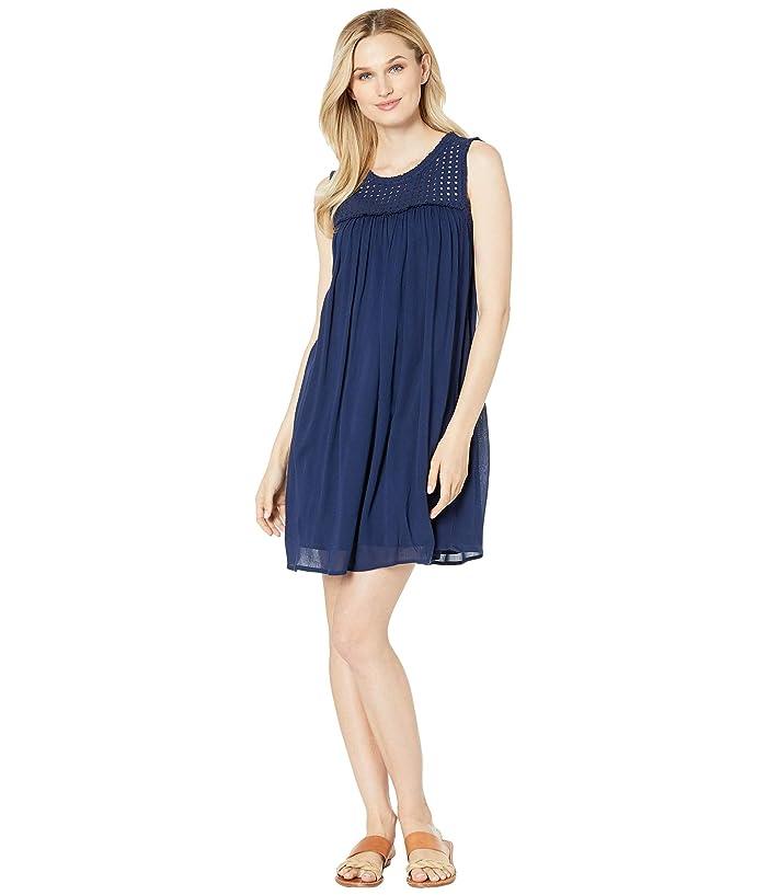Tommy Bahama Crinkle Rayon Sleeveless Dress (Mare Navy) Women