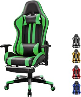 Soontrans Racer Style Computer Chair Reclining Office Chair Gaming Chair Swivel Desk Chair with Backrest and Seat Height A...