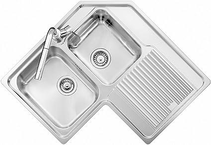 Lavello Ad Angolo Acciaio Inox Satinato Plados Vintage 8320 Due Vasche Piu Scolapiatti Scolapiatti A Dx Amazon It Fai Da Te