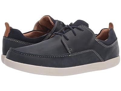 Clarks Un Lisbon Lace (Navy Leather/Canvas Combination) Men