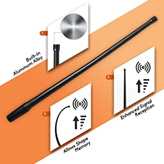 DeepRoar Replacement Antenna for Harley-Davidson Motorcycles 1998-2018, Optimized FM/AM Reception, 13 Inch PL01 (Black)