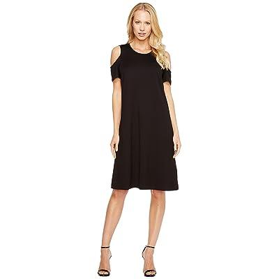 Ellen Tracy Open Shoulder Dress (E Black) Women