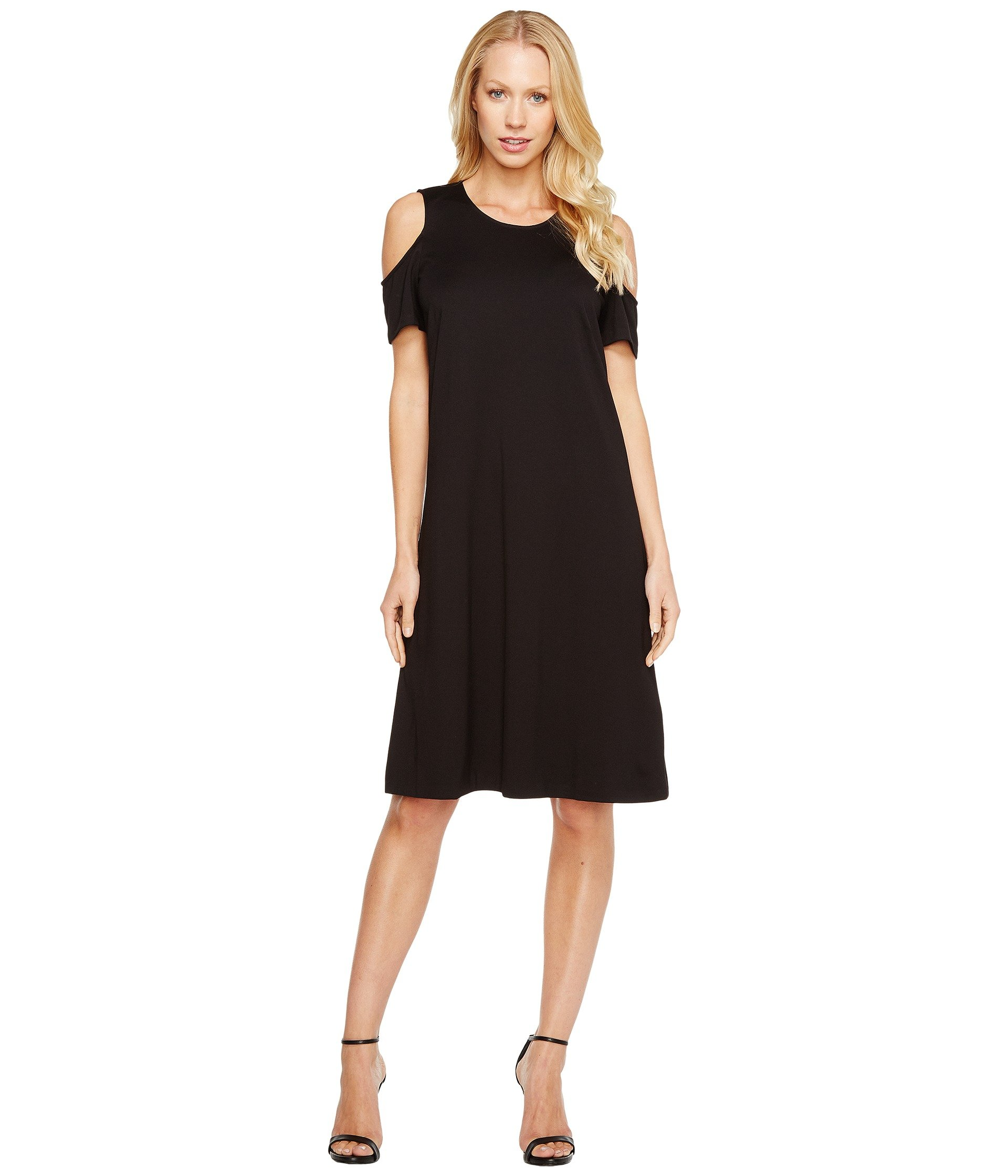 ELLEN TRACY Open Shoulder Dress, E Black