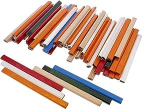 DCT 72 Piece Carpenter Pencils Bulk Lead, Mixed Colors – Flat Marking Pencil, Construction Tools, Woodworking Pencil