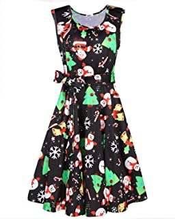 OUGES Women's Fit and Flare Cocktail Dress