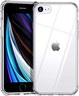 ESR Crystal Clear Case for iPhone SE 2020 Case/iPhone 8 Case/iPhone 7 Case, 9H Tempered Glass Back Cover [Mimics Glass Bac...