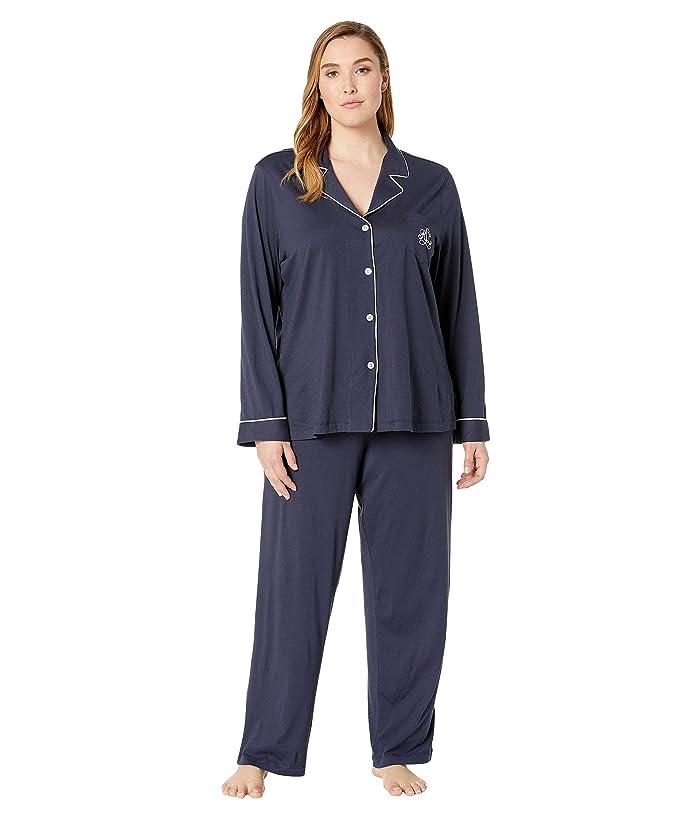 LAUREN Ralph Lauren Hammond Knits Pajama Set Plus Size (Navy) Women