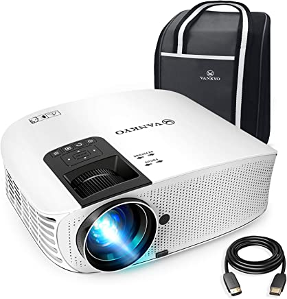 "VANKYO Leisure 510 Full HD Movie Projector with 3800 Lux, Video Projector with 200"" Projection Size, Support 1080P HDMI VGA AV USB with Free HDMI Cable and Carrying Bag(White)"