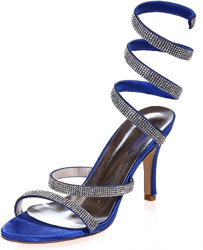 Elobaby Chaussures De Mariage pour Femmes Peep Toes Robe De MariéE Tribunal Robe   35-42 Taille   3.5 Talon De Bal