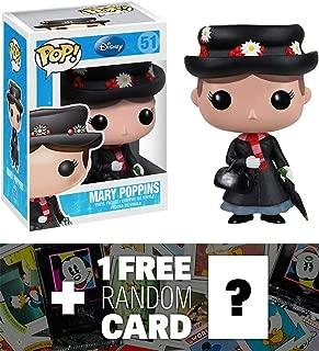 Mary Poppins: Funko POP! x Disney Mary Poppins Vinyl Figure + 1 FREE Classic Disney Trading Card Bundle [32016]
