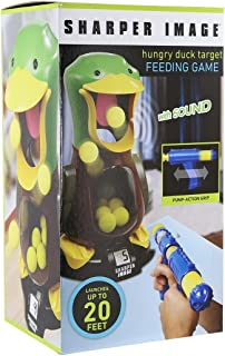 Carnival Style Competition Duck Shooting Game with Sound, Safe To Play Indoors With 8 Soft Foam Balls For Ages 6 & Up