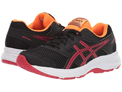 ASICS Kids Gel-Contend 5 (Big Kid) (Black/Speed Red) Boys Shoes