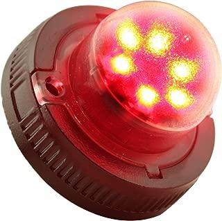 LAMPHUS SnakeEye II SEHA16 LED Hideaway Strobe Warning Lights [SAE Class 3] [72 Modes] [6 Watt] [Weatherproof] Flashing Lights for Police & Firefighter Emergency Vehicles - Red/Red