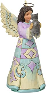 """Best Jim Shore Heartwood Creek Pint Size Angel with Kitten Stone Resin Figurine, 5"""" Review"""