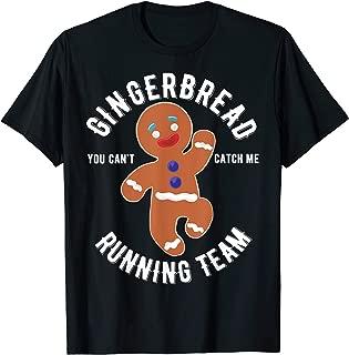 gingerbread man running shirt