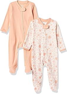 HonestBaby Baby 2-Pack Organic Cotton Footed Pajama Sleep & Play