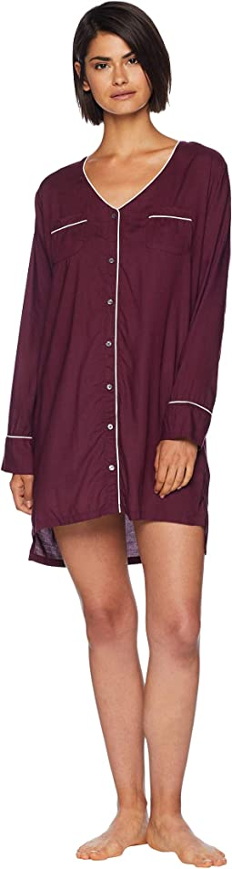 Night Sky Button Front Sleepshirt