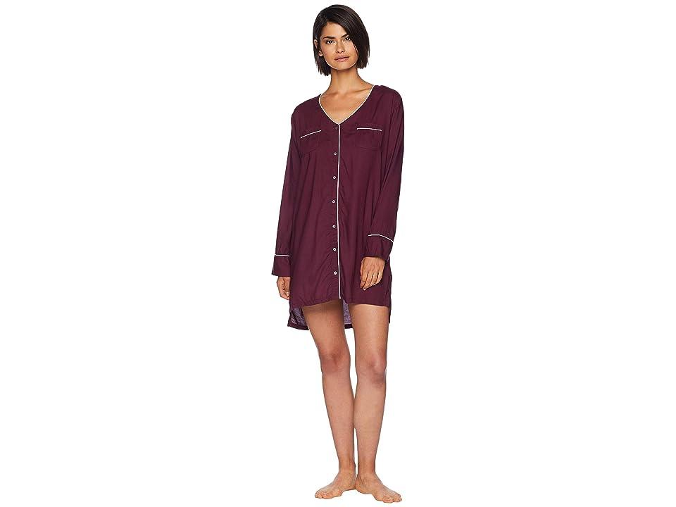 Splendid Night Sky Button Front Sleepshirt (Fig) Women