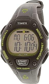 Timex Women's Ironman Classic TW5M14000 Matte Grey Rubber Japanese Quartz Sport Watch