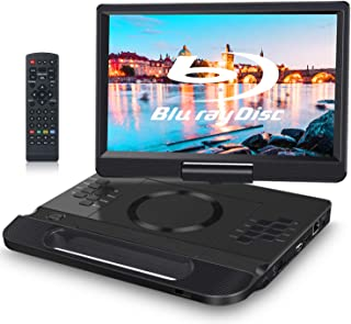 FANGOR 12 Inch Portable Blu Ray Player with Rechargeable Battery and Remoto Control, 1080P Video HDMI Output & AV in, USB/...