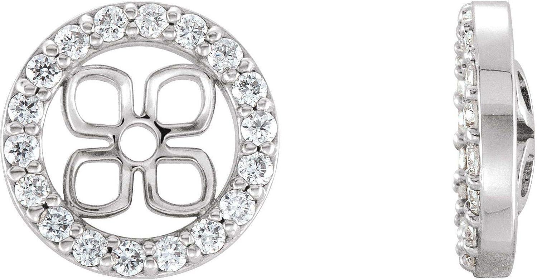 14k Gold Natural Diamond Earring Jackets for Women