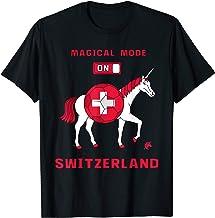 Magical Mode On Switzerland Soccer Unicorn T-Shirt