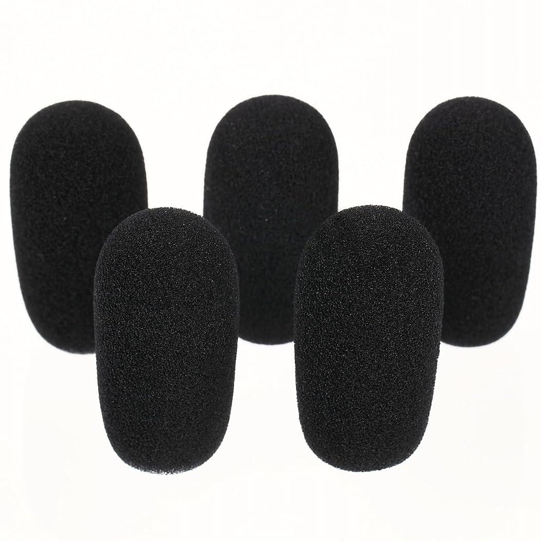 駐地抜け目がないエンディング[GONKISS]ヘッドセット インカム マイク風防 マイクスポンジ 内径12mm 5個セット 黒