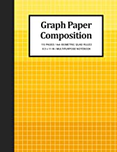 "Graph Paper Composition Notebook: Math and Engineering 1/4"" Quad Ruled 4x4 Square Per Inch Isometric Grid Journal, Teacher..."