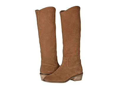 FRYE AND CO. Caden Stitch Tall (Cognac Suede) Women