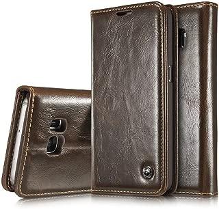 Galaxy S7 Case,AKHVRS Premium Flip Leather Wallet Phone Case - [Card Slot] [Flip] [Wallet] [Magnetic Closure] for Samsung Galaxy S7,Brown