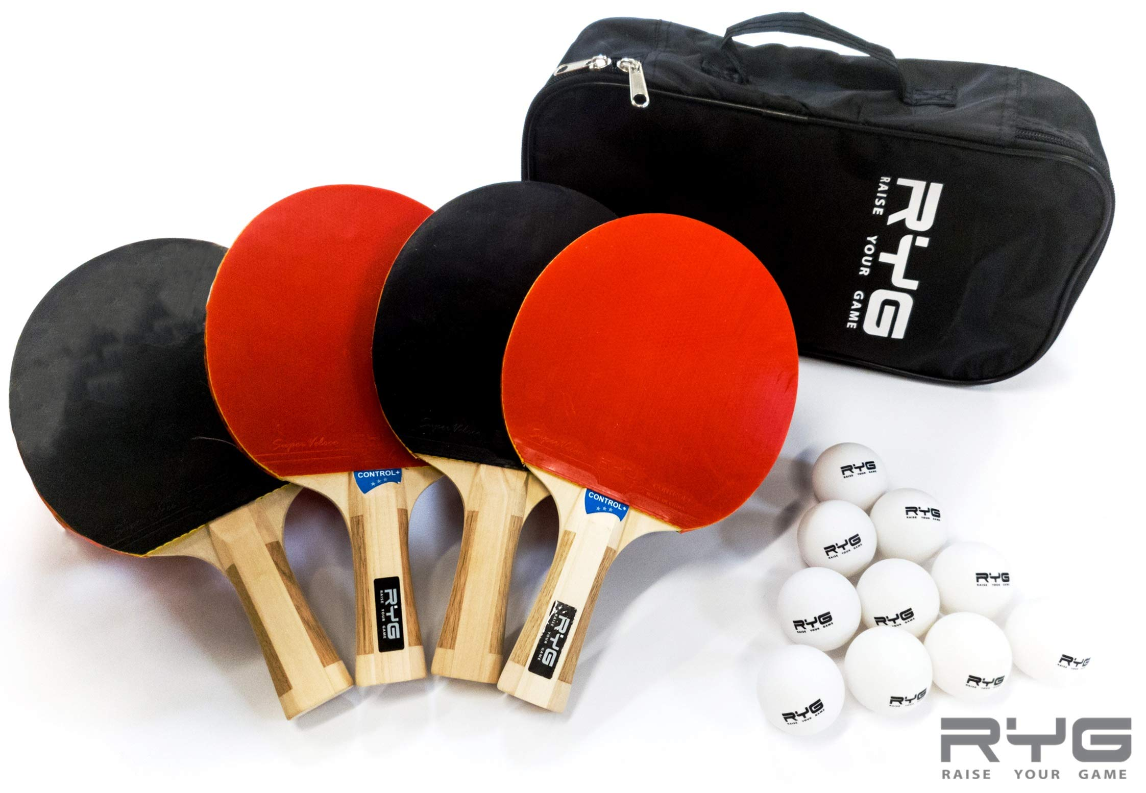 8 Professional Balls and Portable Cover Case Bag Pro Trainning and Recreational Ping-Pong Paddles Ideal for Outdoor or Indoor Games VIVVEA Ping Pong Paddle Set 4 Premium Table Tennis Rackets Pack